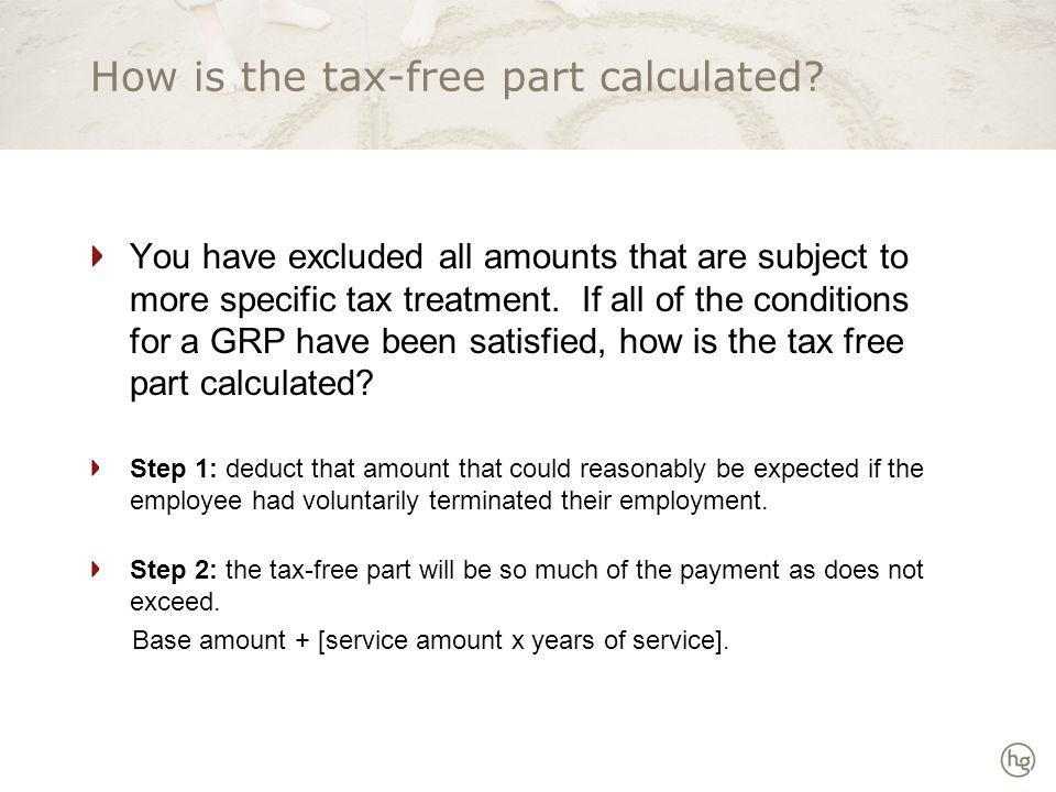 How is the tax-free part calculated.