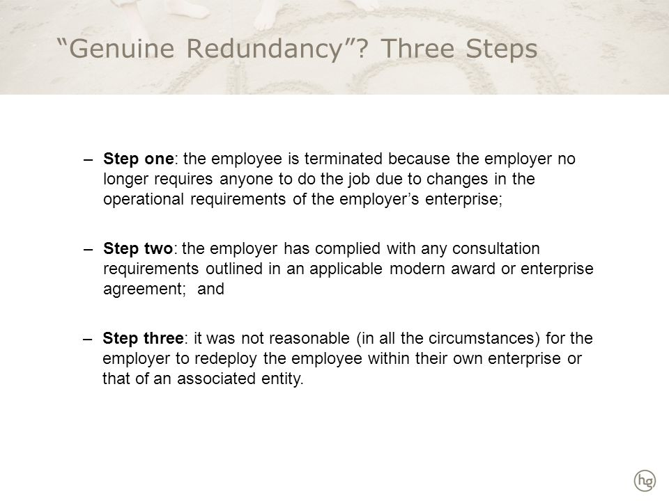 Step 1: Operational Changes Restructuring Downsizing Closing down Outsourcing