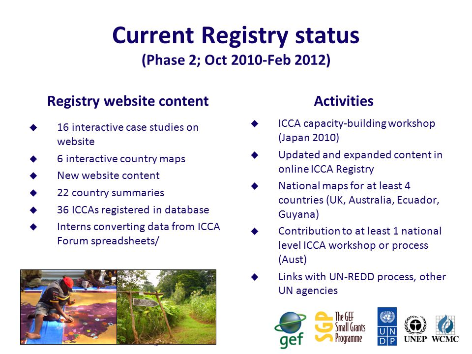 Governance of ICCA Registry