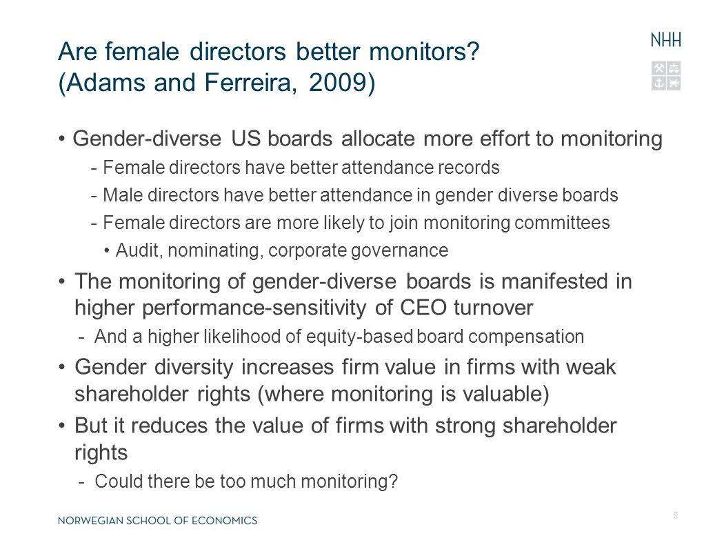 Are female directors better monitors.