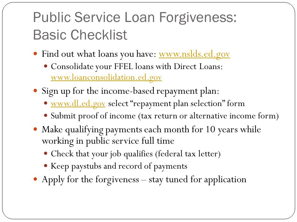 How You Could Have Over  Of Your Direct Loans Forgiven