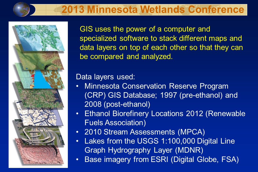 GIS uses the power of a computer and specialized software to stack different maps and data layers on top of each other so that they can be compared an