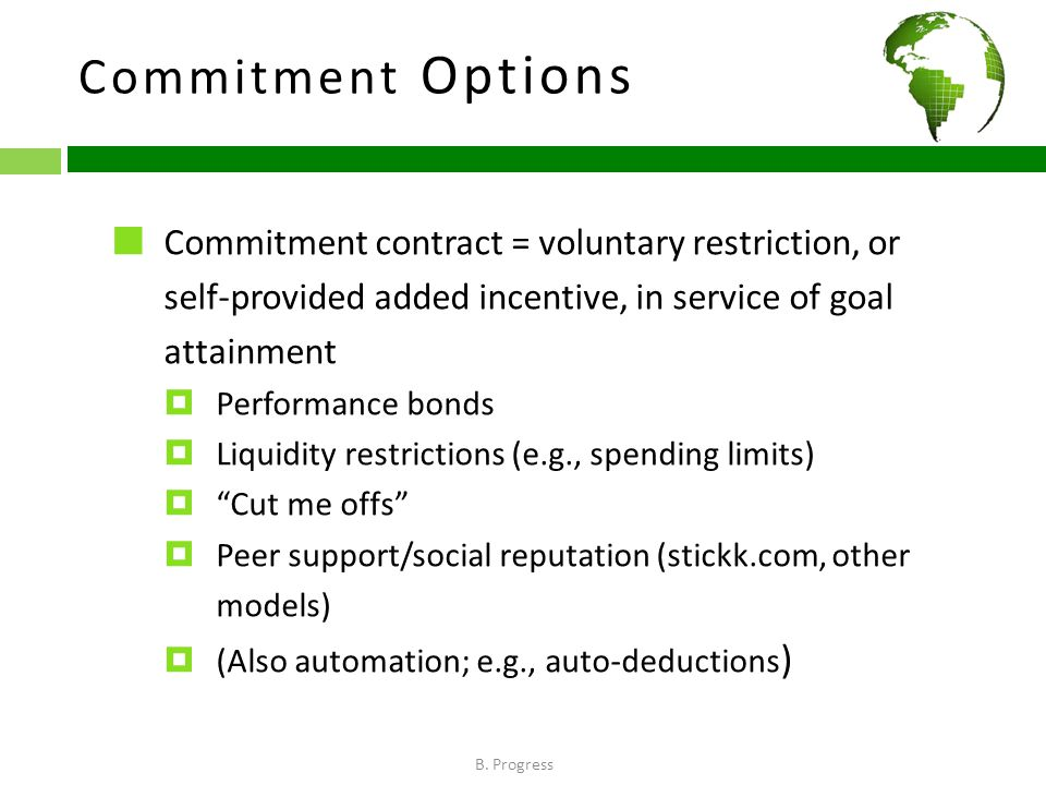 Commitment Options B.