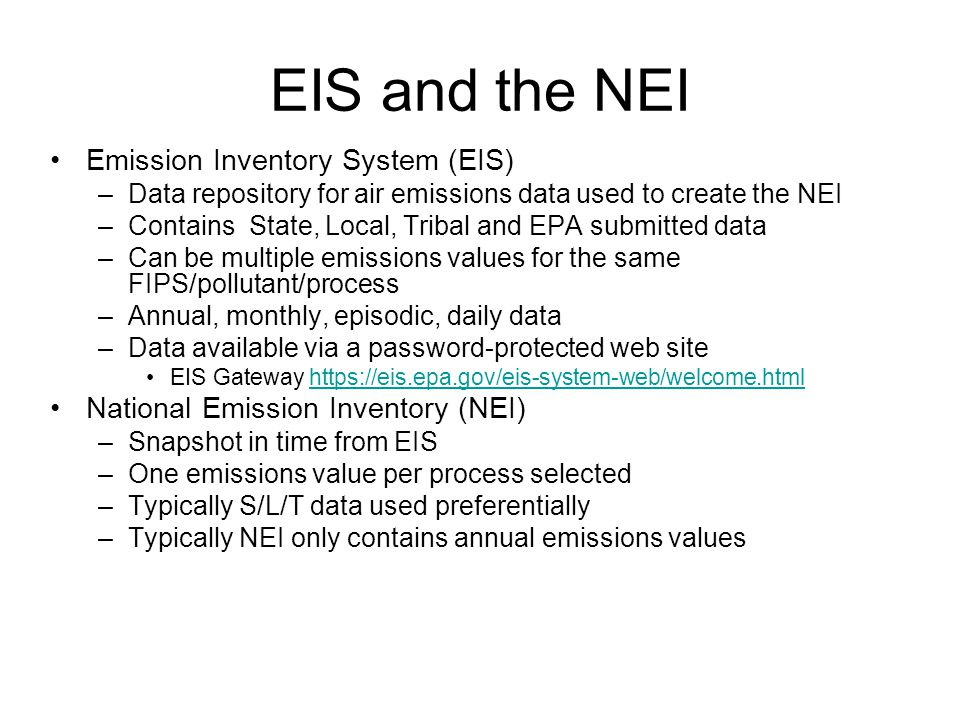 EIS Format - Nonpoint Inventory 13 Tables, all must be submitted.