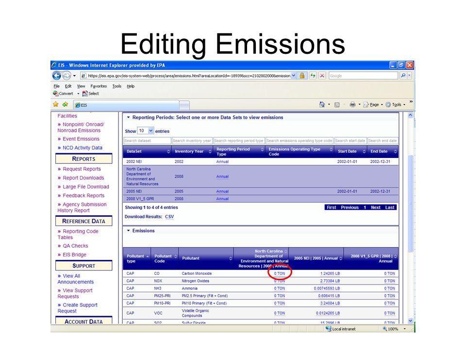 Editing Emissions