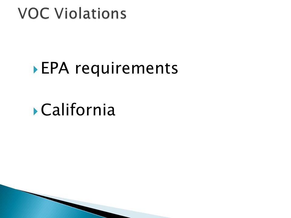  EPA requirements  California
