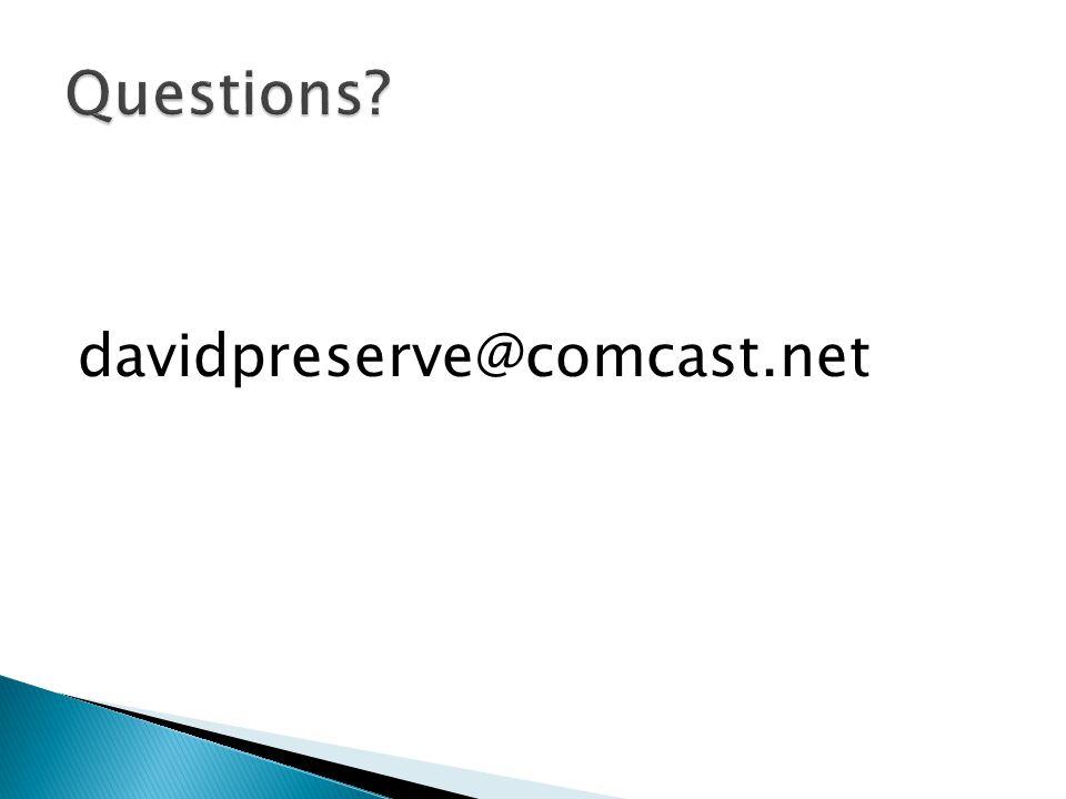 davidpreserve@comcast.net
