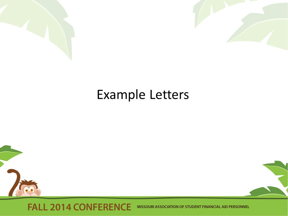 Example Letters