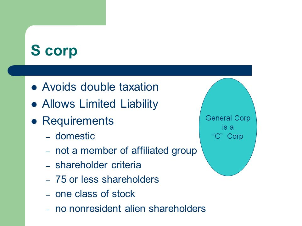 Limited Liability Company Hybrid of corp and partnership Tax benefits of partnership Limited liability of corp.
