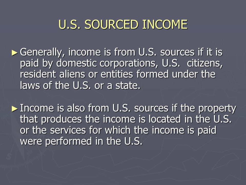 TAXATION OF RESIDENT AND NONRESIDENT ALIENS ► Resident aliens and nonresident aliens can receive income as individuals, employees and as independent contractors.
