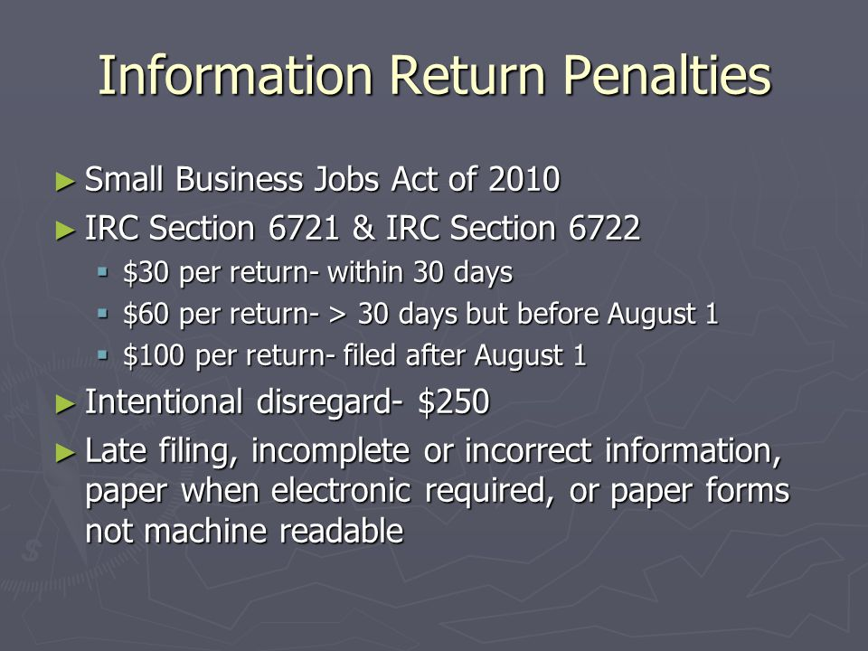 When to file Forms 1099-Misc ► File forms 1099 on paper by February 28, 2013 or April 1, 2013 if filing electronically.