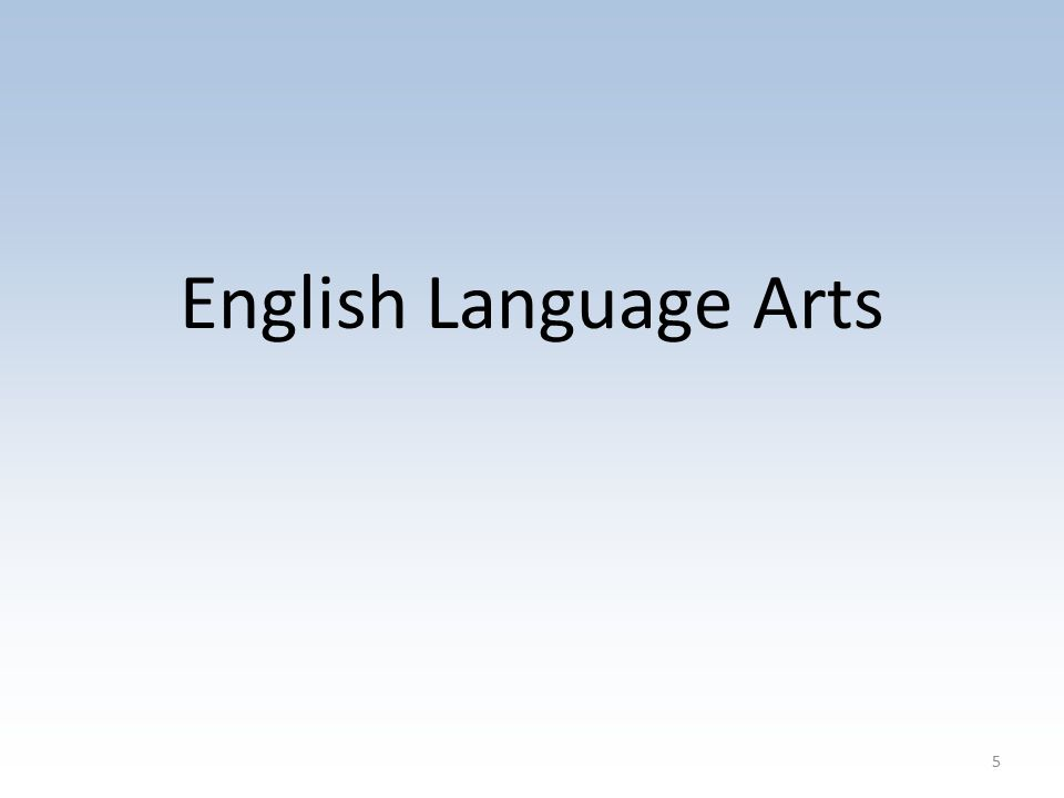 English Language Arts 5