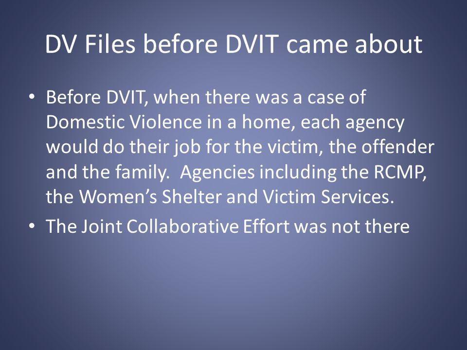 DVIT ( DOMESTIC VIOLENCE INTERVENTION TEAM) IDEA: Provide support to Families experiencing Domestic Violence (Men, Women, Children)