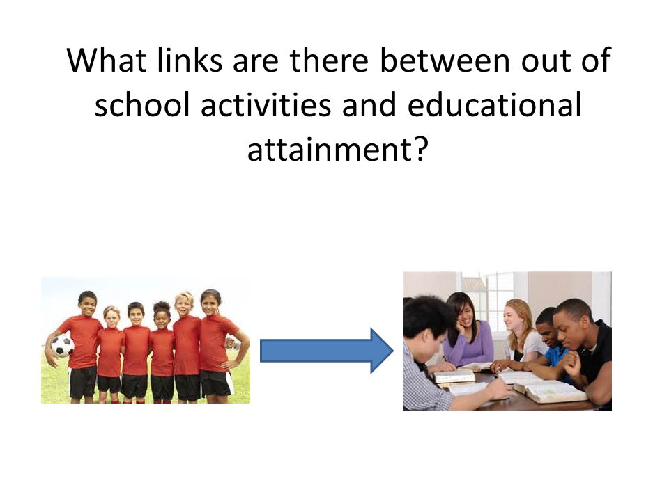 What links are there between out of school activities and educational attainment