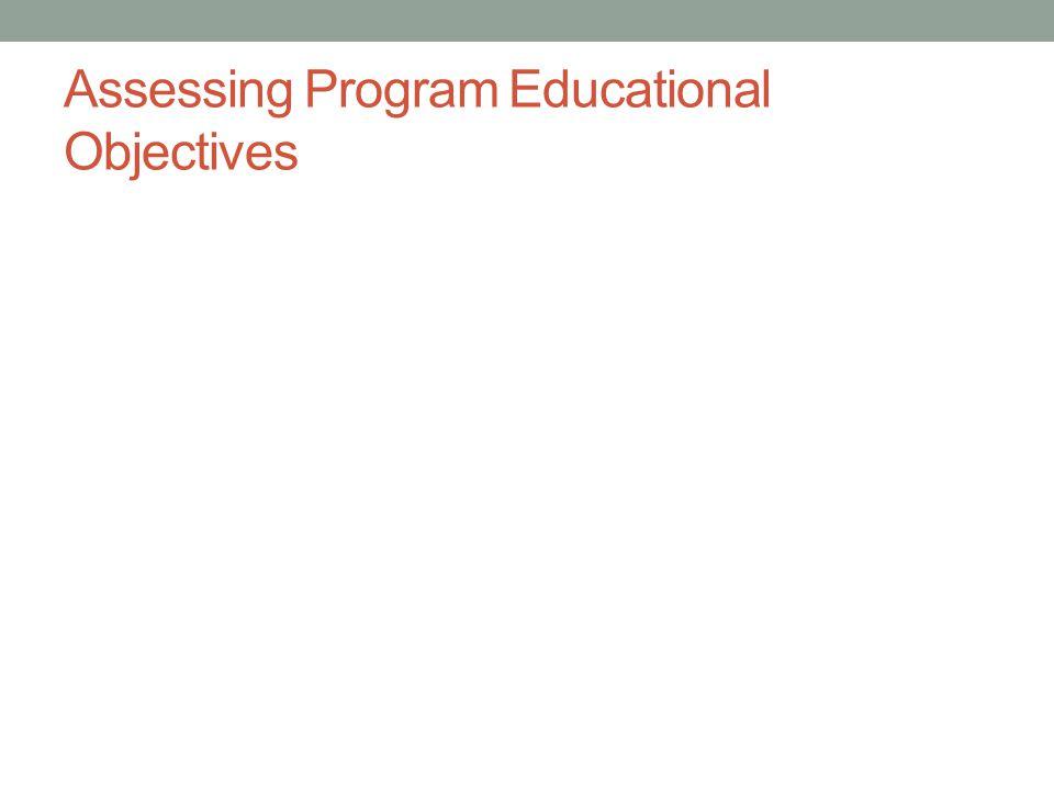 Assessing Program Educational Objectives