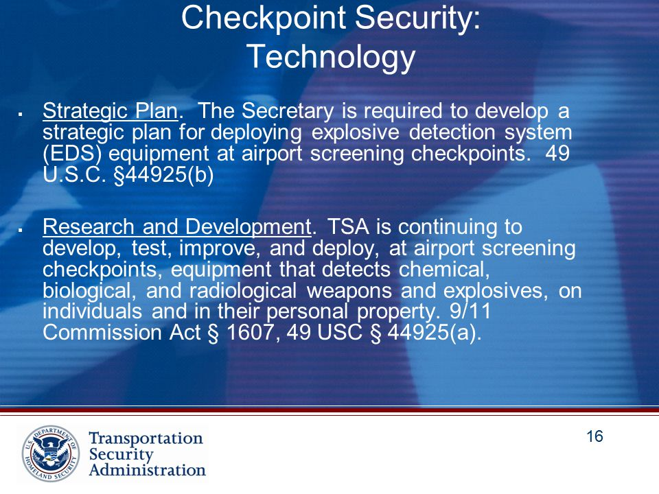 16 Checkpoint Security: Technology  Strategic Plan.