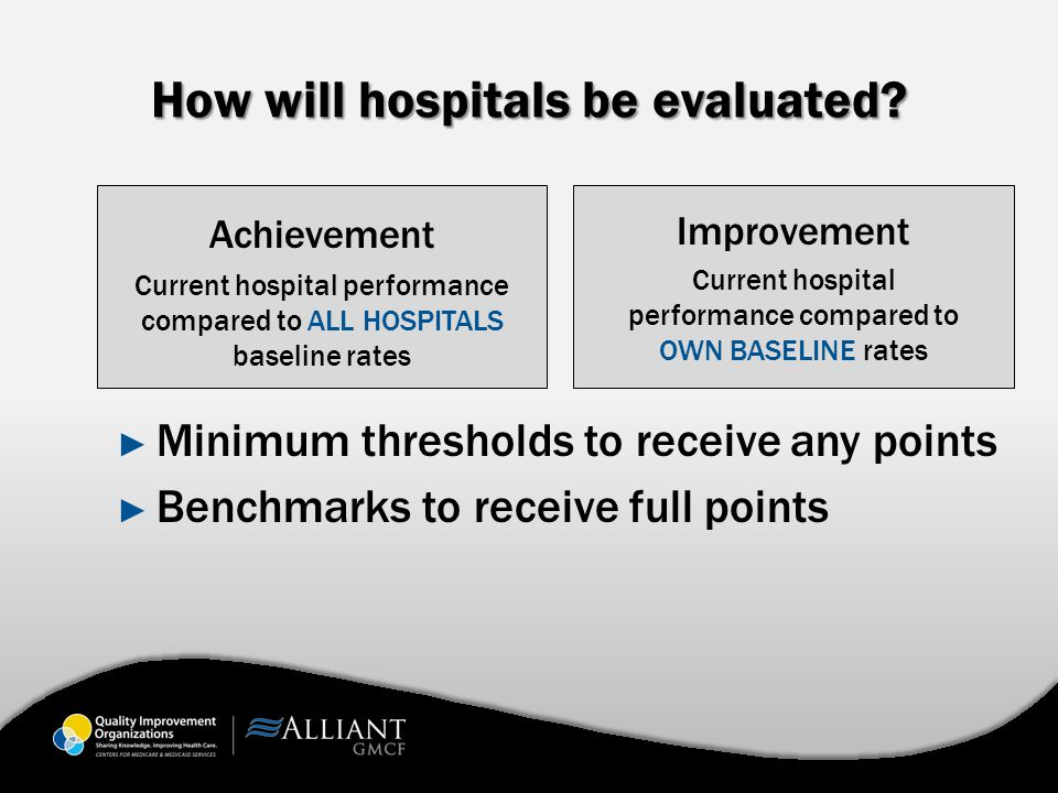 How will hospitals be evaluated.
