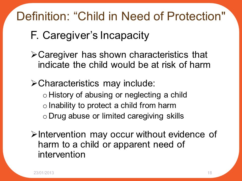 "Definition: ""Child in Need of Protection"