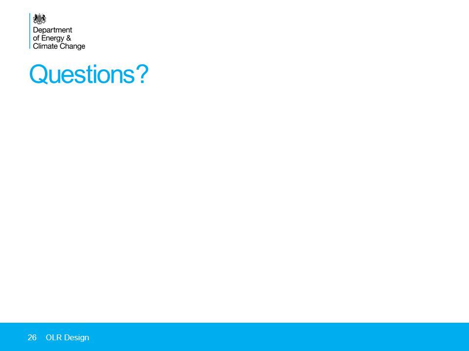 Questions 26OLR Design