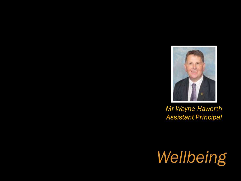 Wellbeing Mr Wayne Haworth Assistant Principal