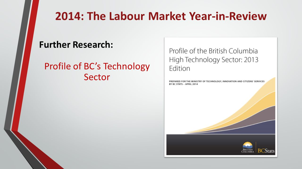2014: The Labour Market Year-in-Review Further Research: Profile of BC's Technology Sector