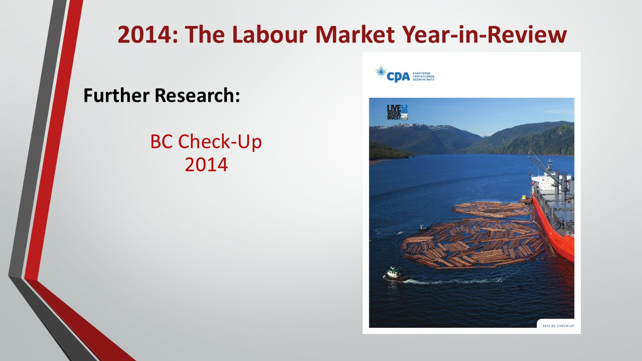 2014: The Labour Market Year-in-Review Further Research: BC Check-Up 2014