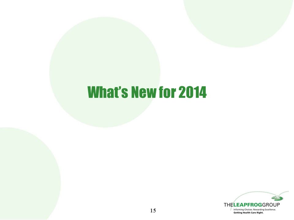 15 What's New for 2014