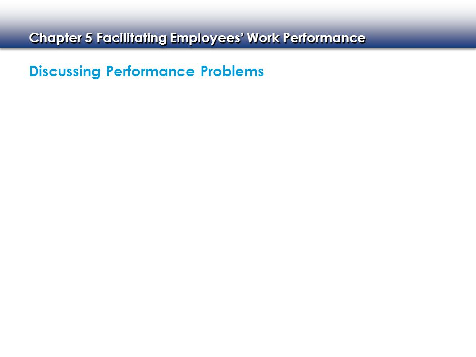 Discussing Performance Problems