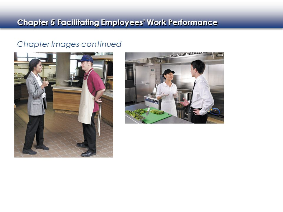 Chapter 5 Facilitating Employees' Work Performance Chapter Images continued