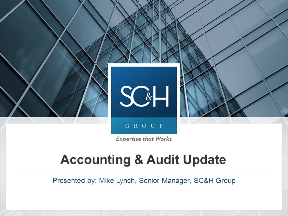 Accounting and Audit Update 2