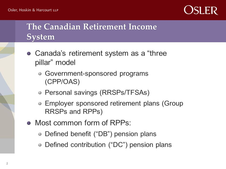 The Canadian Retirement Income System 2
