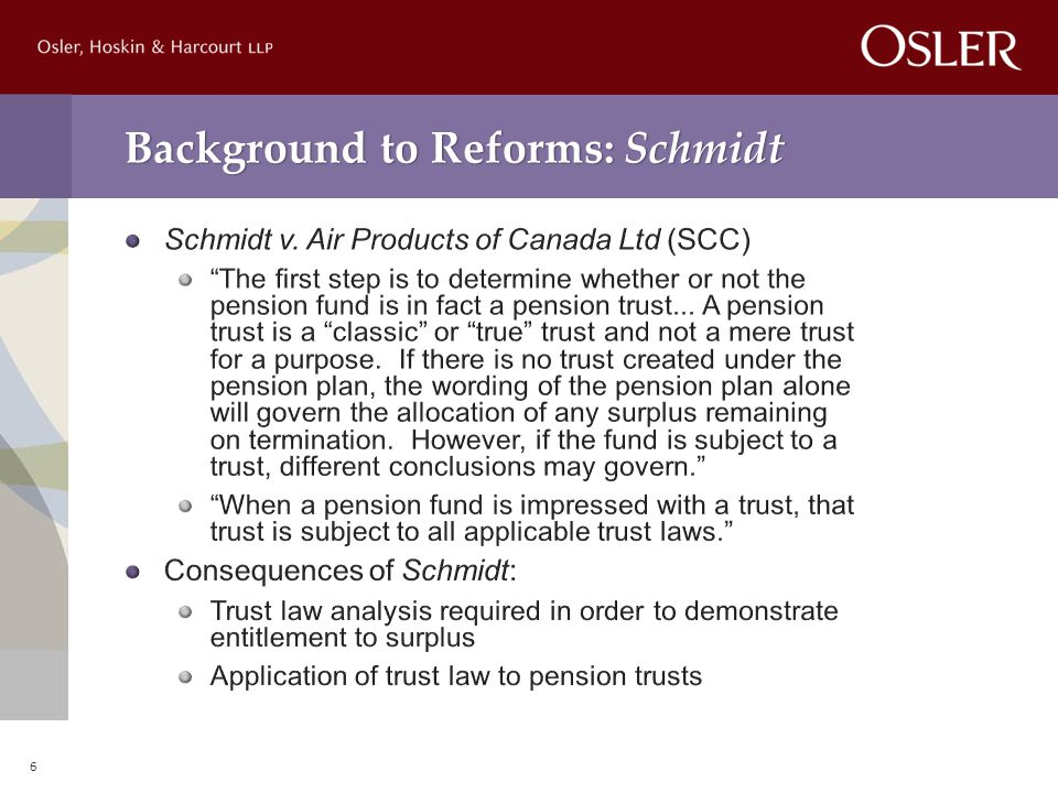 Background to Reforms: Schmidt 6