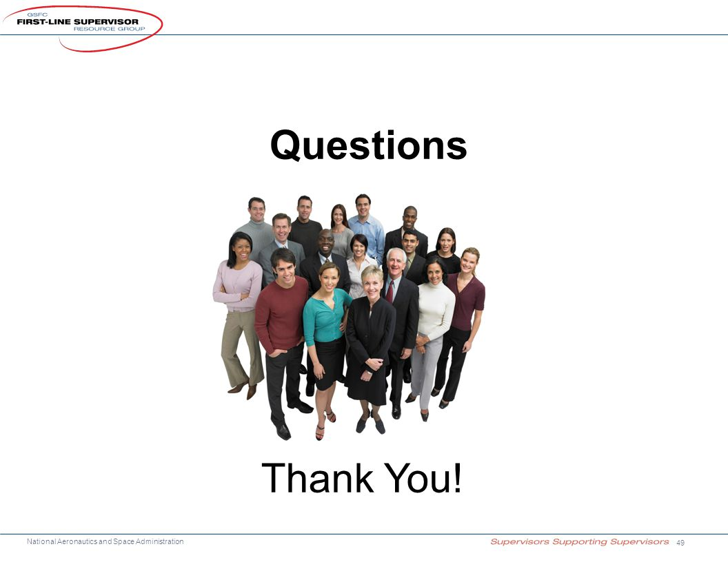 National Aeronautics and Space Administration Questions 49 Thank You!