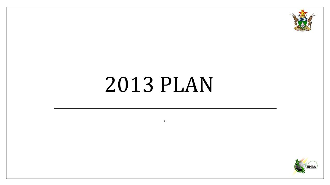 2013 PLAN.