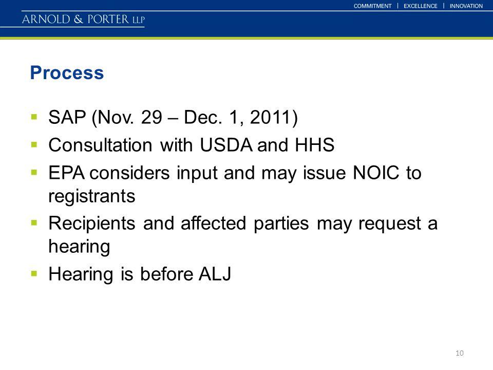 Process  SAP (Nov. 29 – Dec.