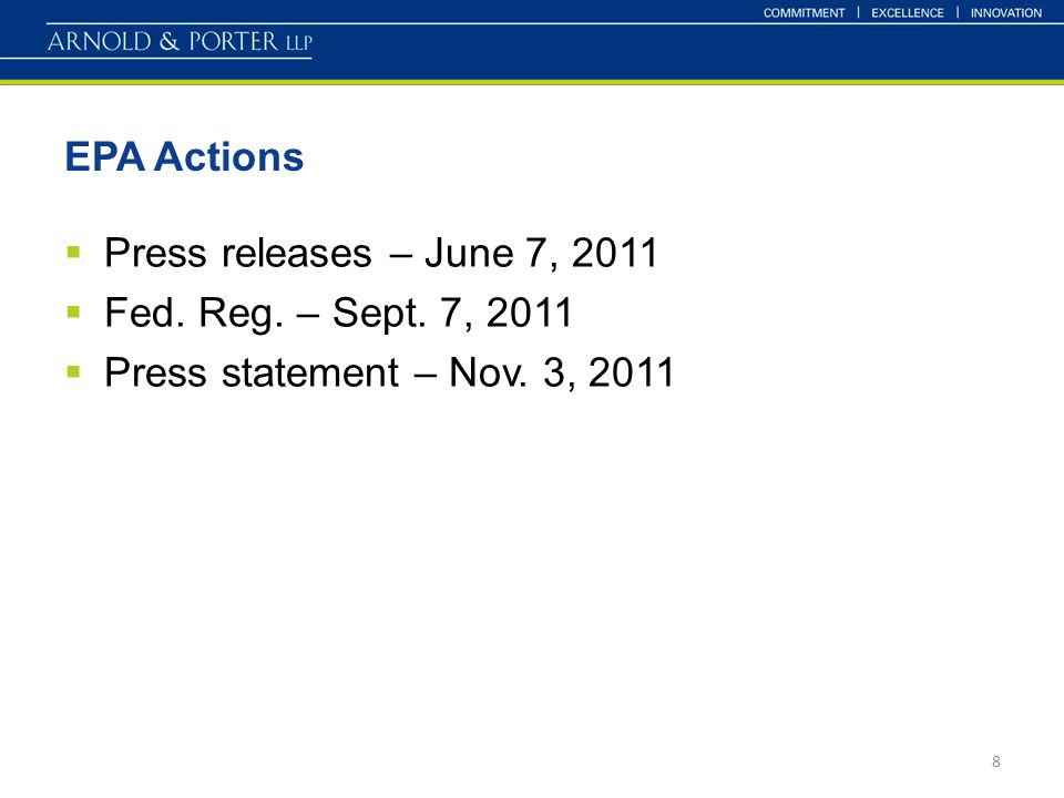 EPA Actions  Press releases – June 7, 2011  Fed.
