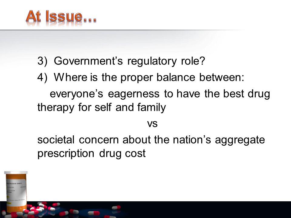 3) Government's regulatory role.