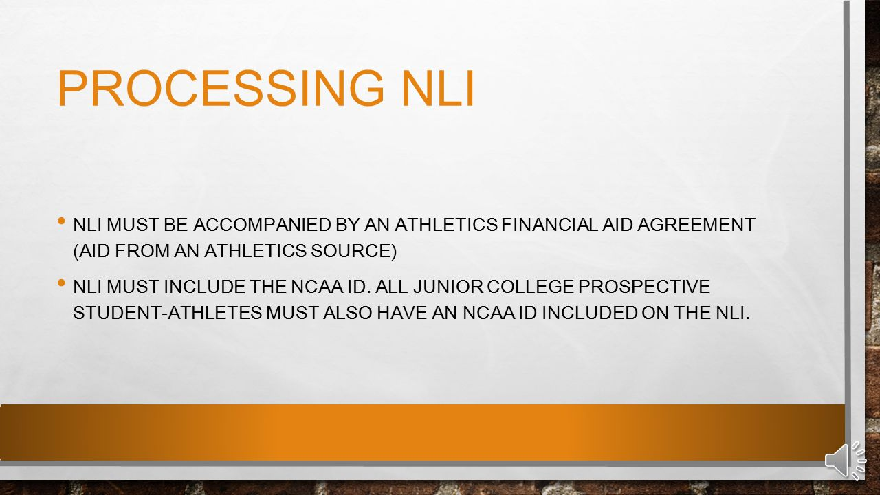 WHO ISSUES THE NLI.