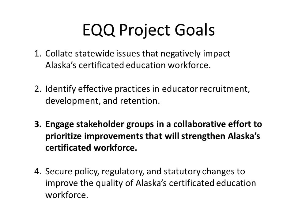 Issues & Impetus Issue Statement: Alaska's education system is not serving all students to the best of their ability.