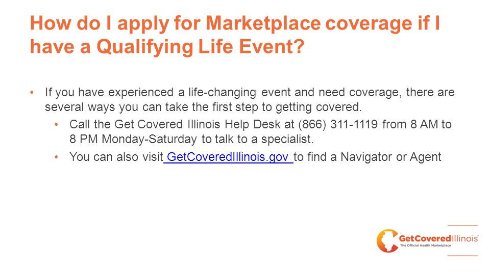 How do I apply for Marketplace coverage if I have a Qualifying Life Event.
