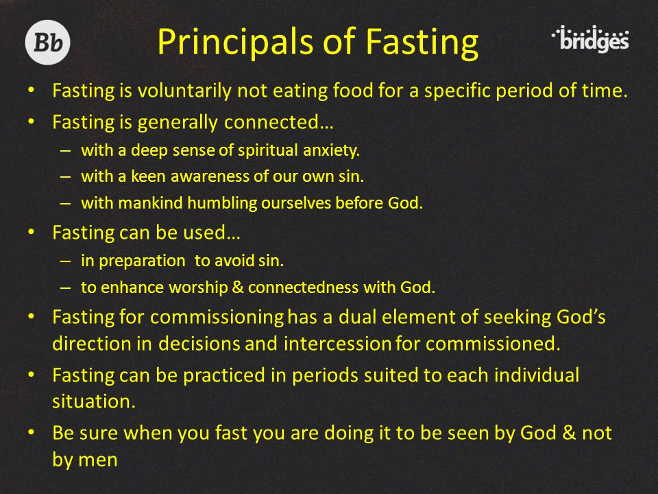 Fasting is voluntarily not eating food for a specific period of time.