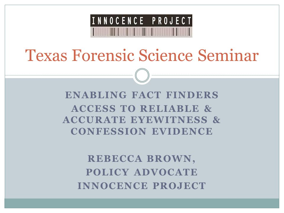 Instructing the Witness: Scientific Support When the perpetrator is absent, and thus when the innocent suspect is more vulnerable, unbiased instructions lead to fewer false identifications, whereas biased instructions lead to an increased rate of false identifications.
