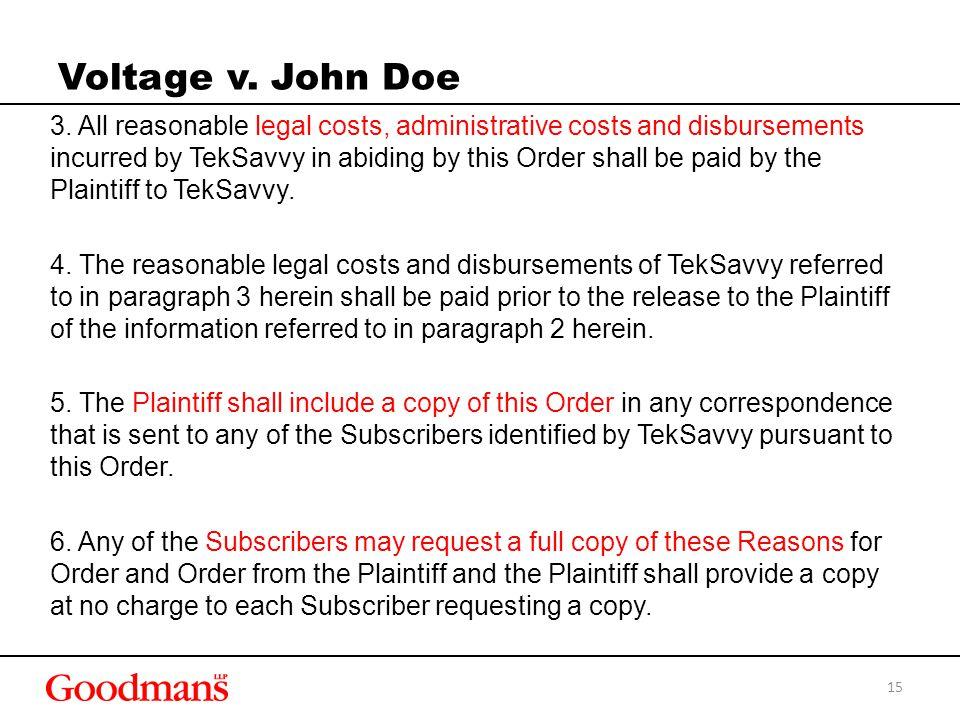Voltage v. John Doe 3.