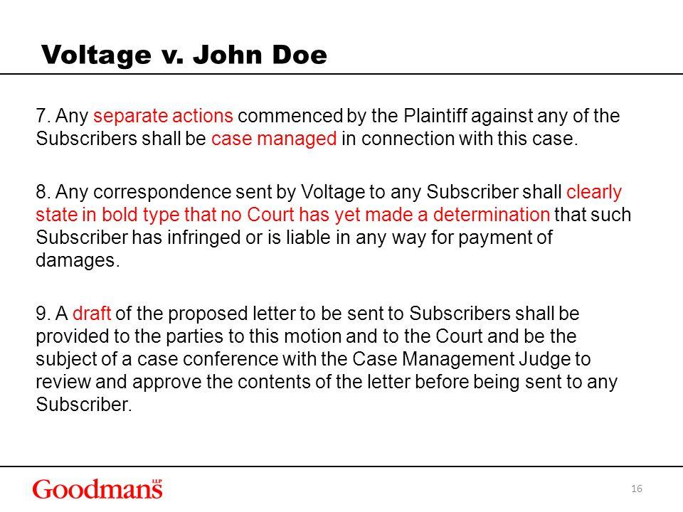 Voltage v. John Doe 7.