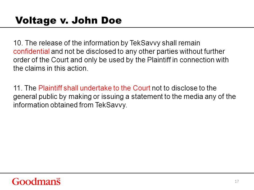 Voltage v. John Doe 10.