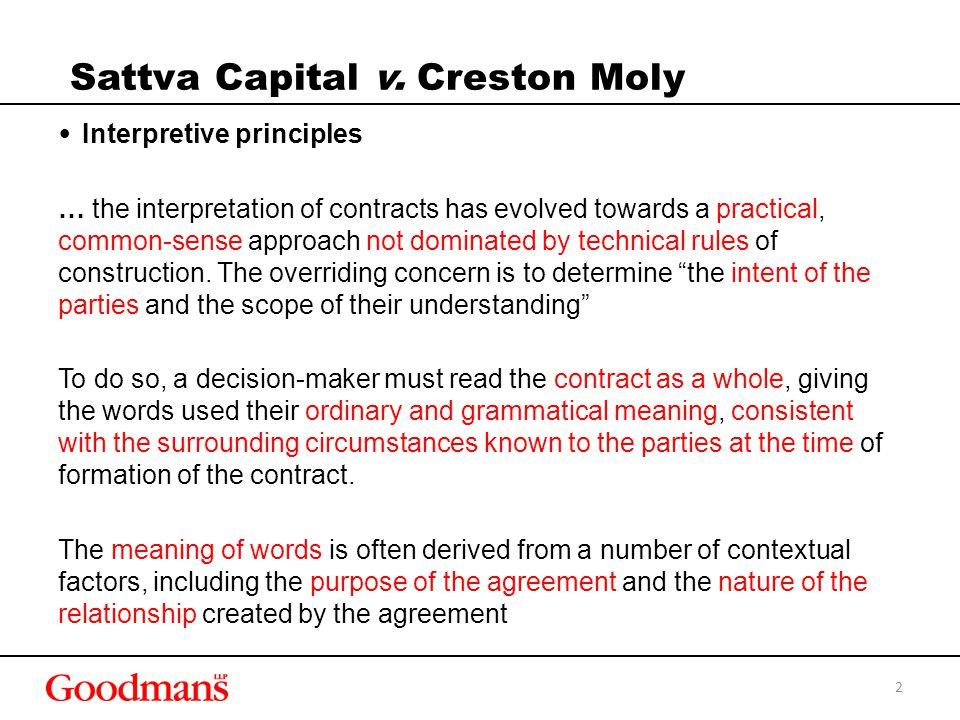 Sattva Capital v.