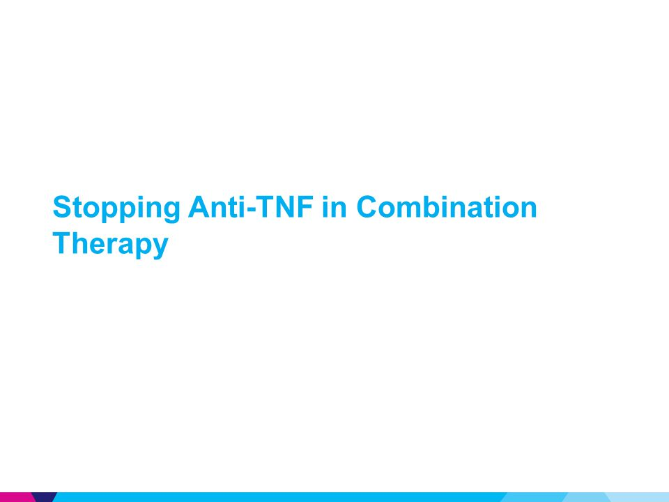 Stopping Anti-TNF in Combination Therapy