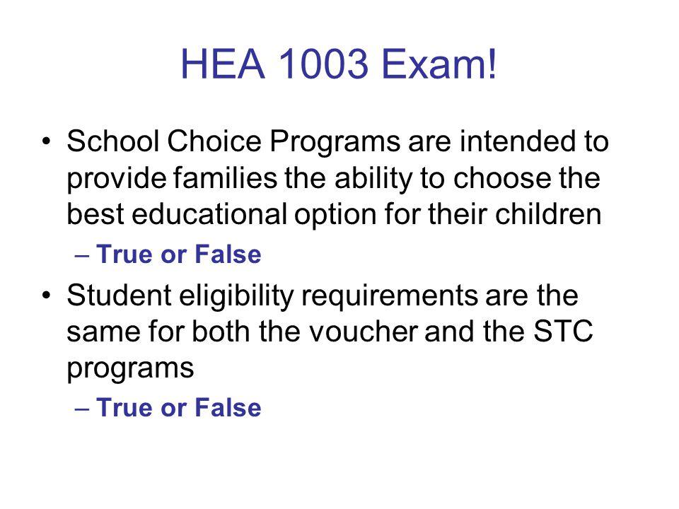 HEA 1003 Exam.