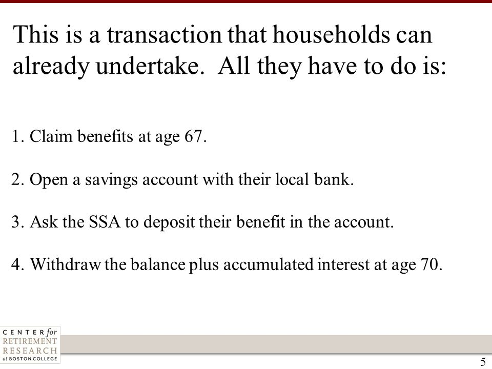 This is a transaction that households can already undertake.