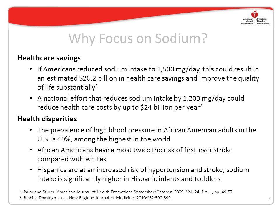 Why Focus on Sodium.